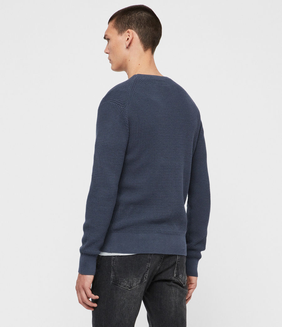 Men's Wells Crew Jumper (pier_blue_marl) - Image 4