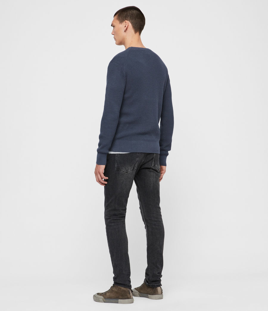 Men's Wells Crew Jumper (pier_blue_marl) - Image 5