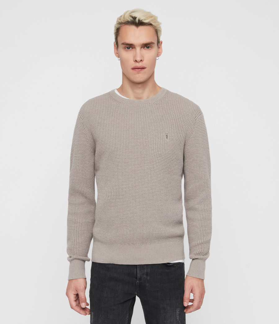 Mens Wells Crew Sweater (engine_grey_marl) - Image 1