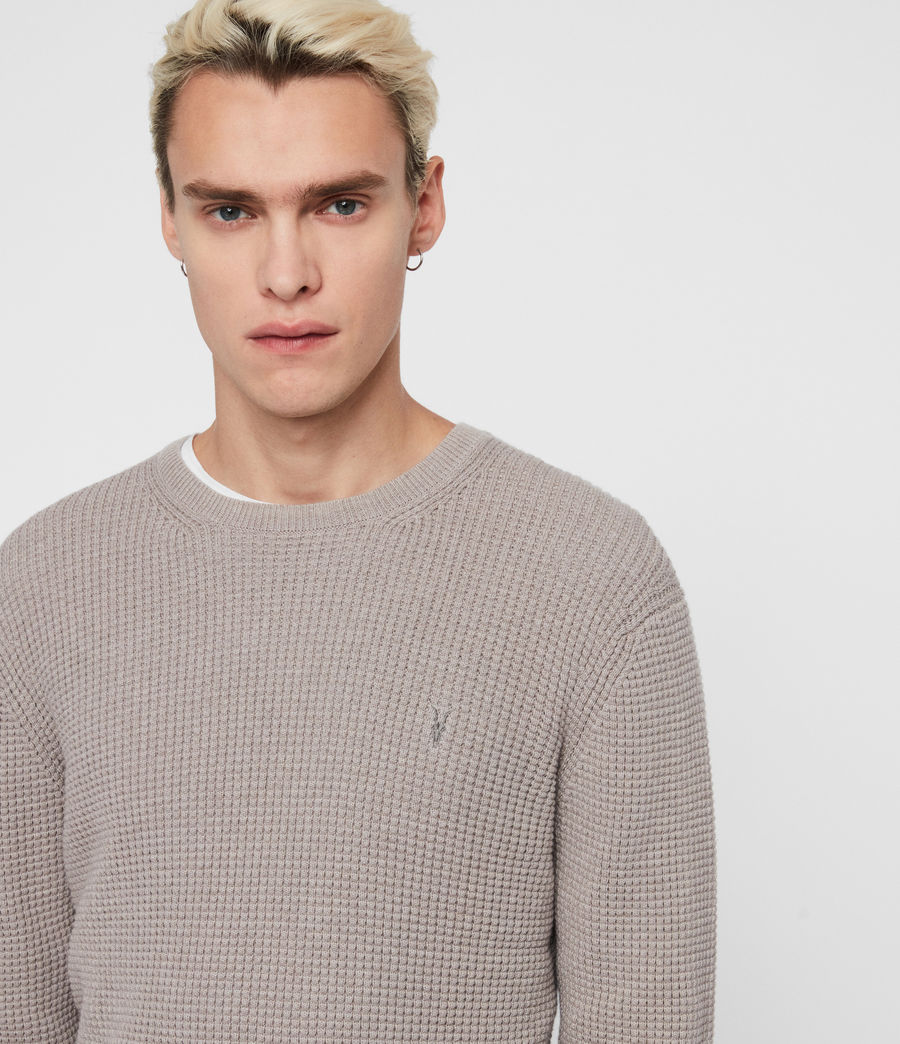 Mens Wells Crew Sweater (engine_grey_marl) - Image 2