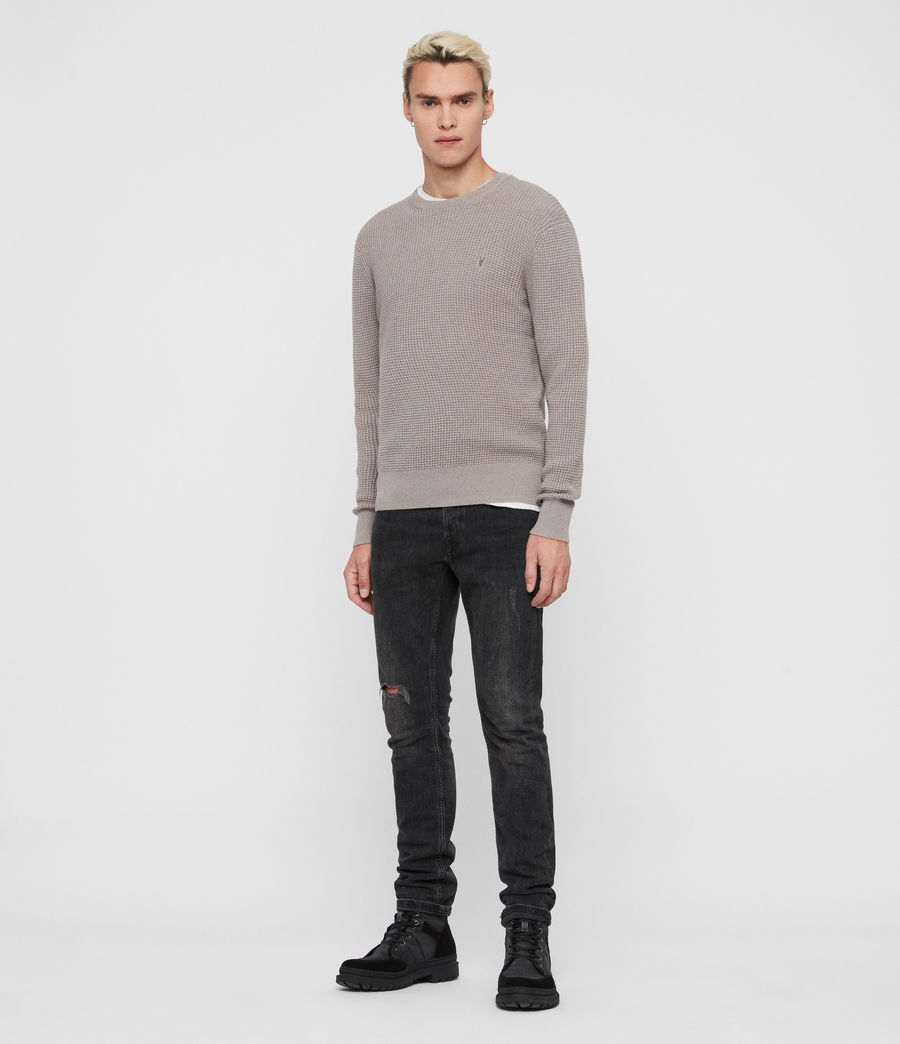 Mens Wells Crew Sweater (engine_grey_marl) - Image 3