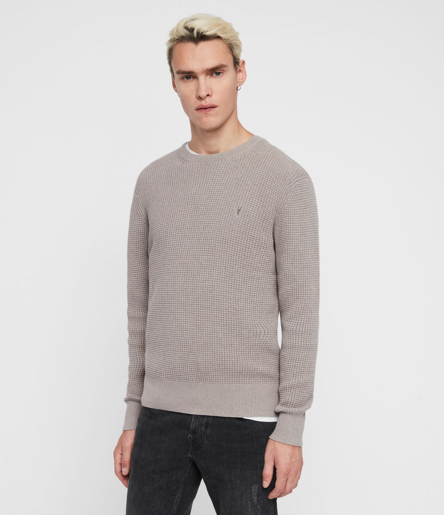 Mens Wells Crew Sweater (engine_grey_marl) - Image 4
