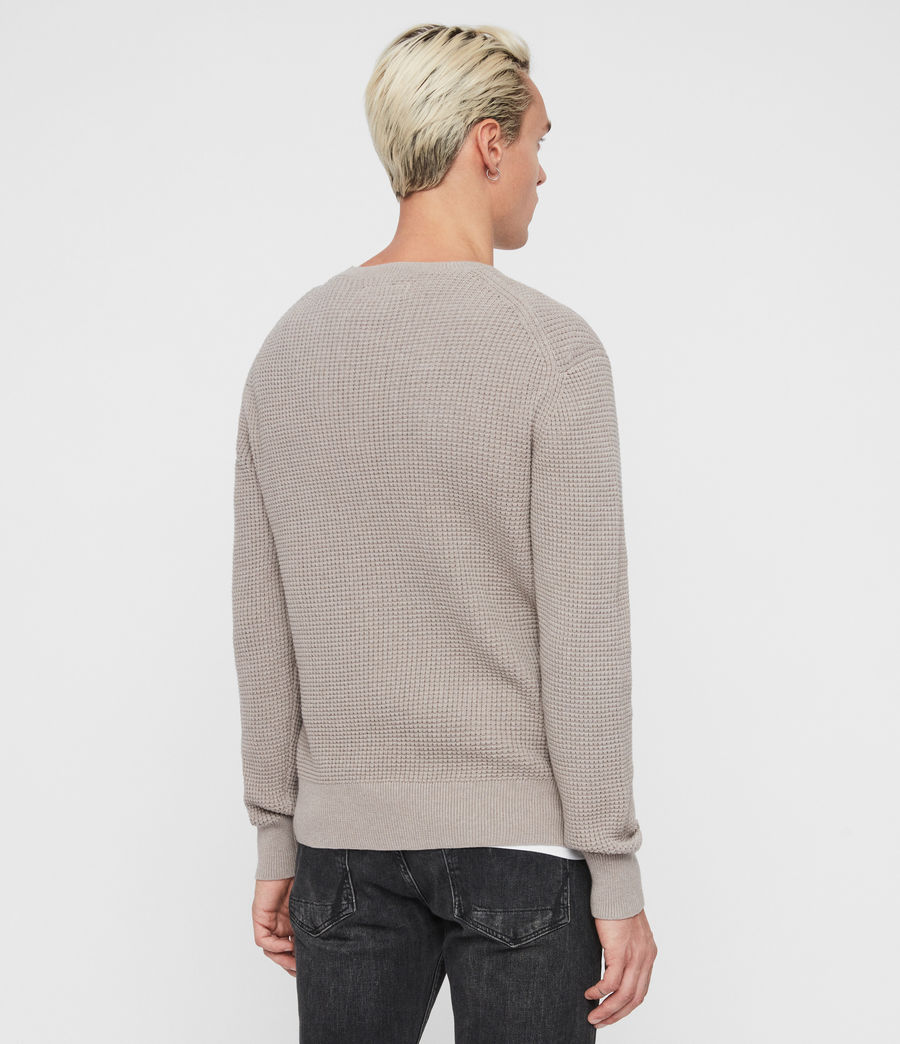 Mens Wells Crew Sweater (engine_grey_marl) - Image 5