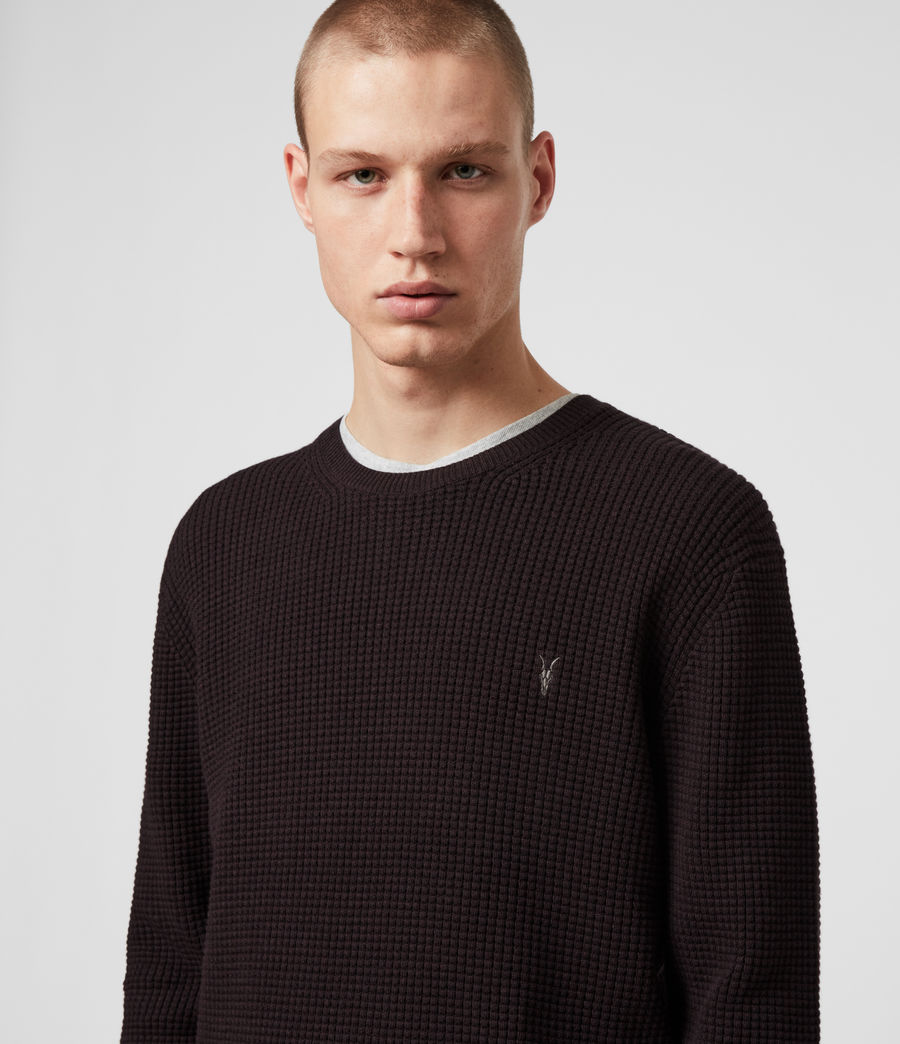 Men's Wells Crew Jumper (ecru_grey_marl) - Image 2