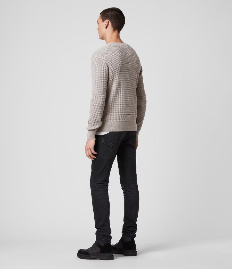 Hombres Wells Crew Jumper (grain_taupe) - Image 5