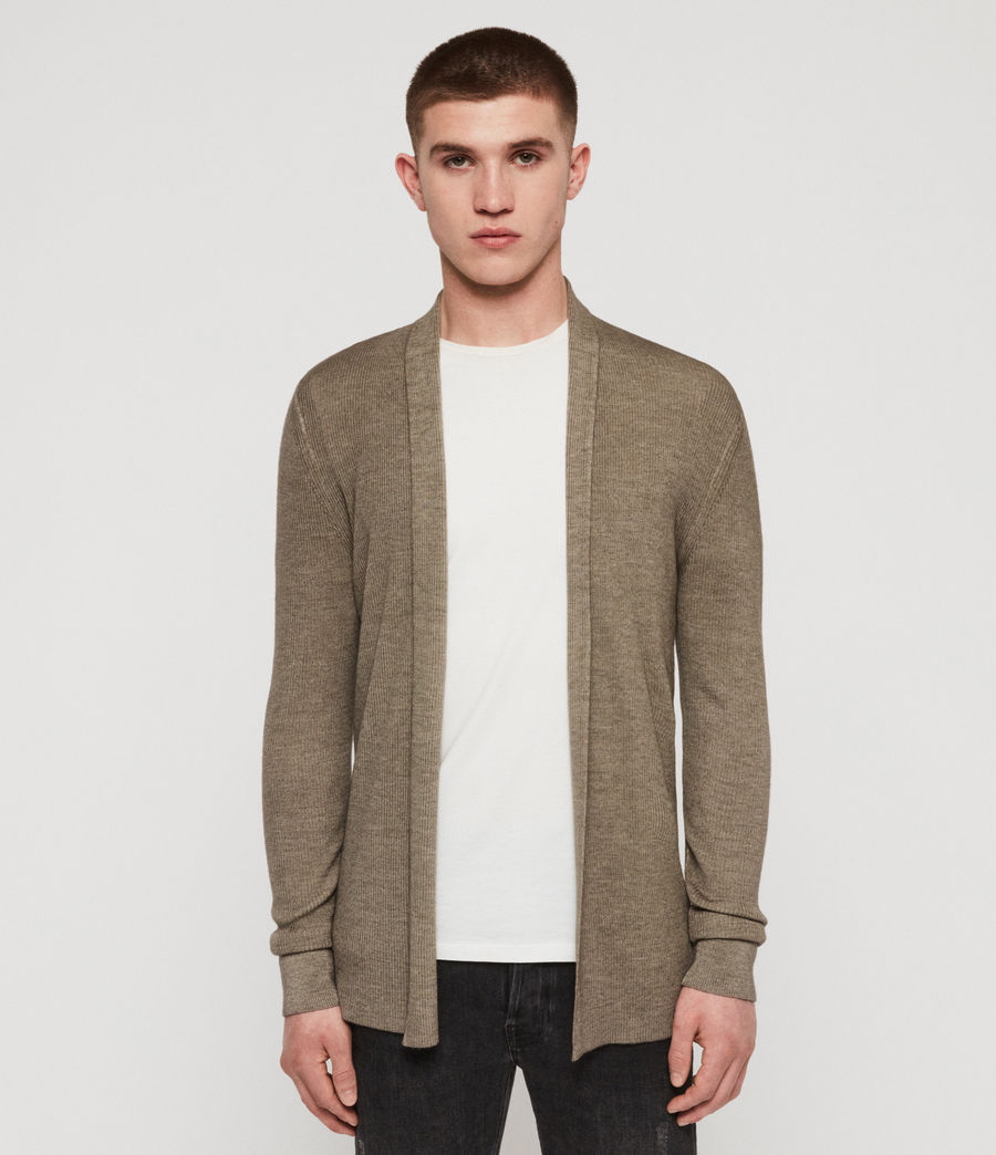 Men's Ark Merino Cardigan (sheal_green) - Image 1