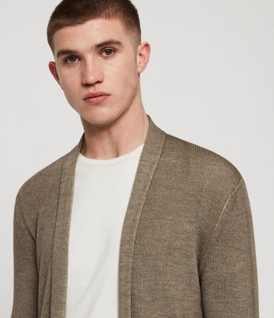 Men's Ark Merino Cardigan (sheal_green) - Image 2