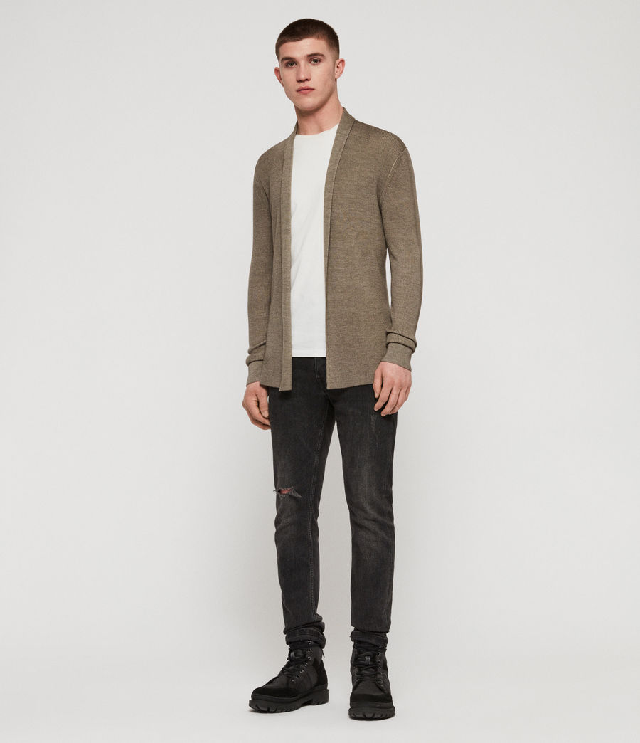 Men's Ark Merino Cardigan (sheal_green) - Image 3