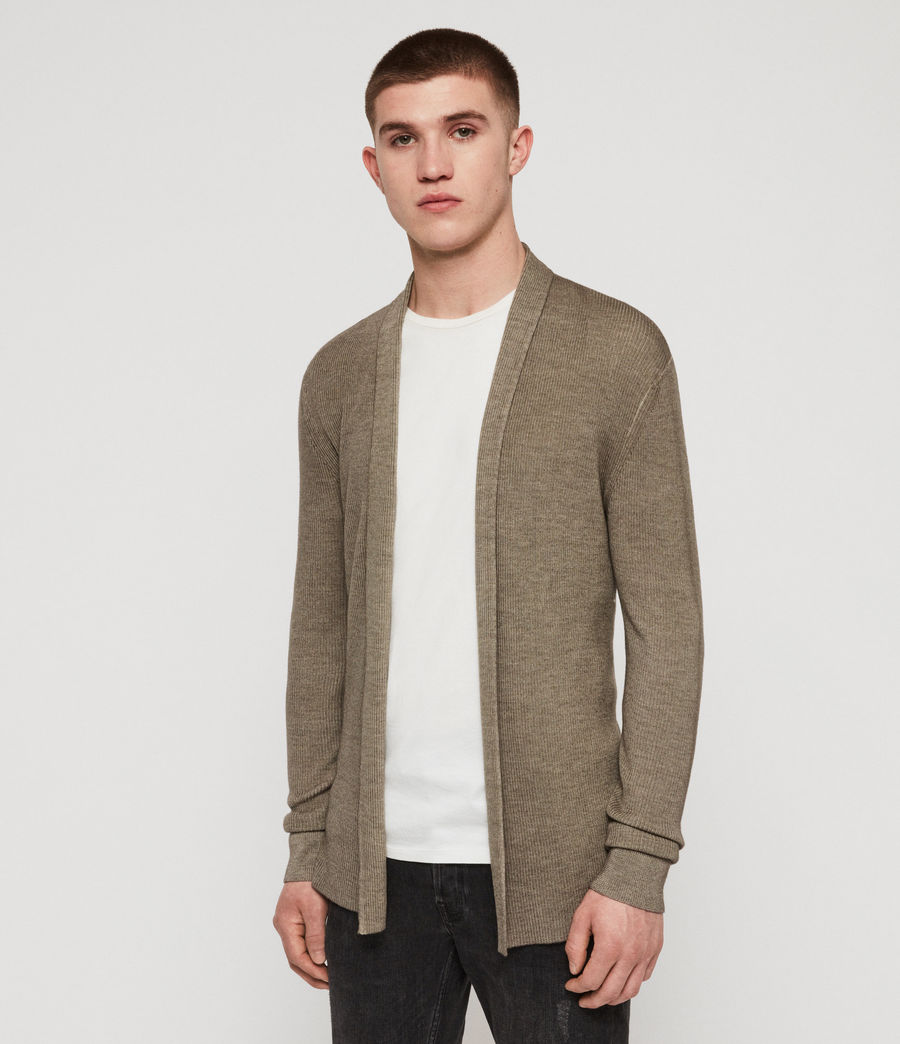 Men's Ark Merino Cardigan (sheal_green) - Image 4