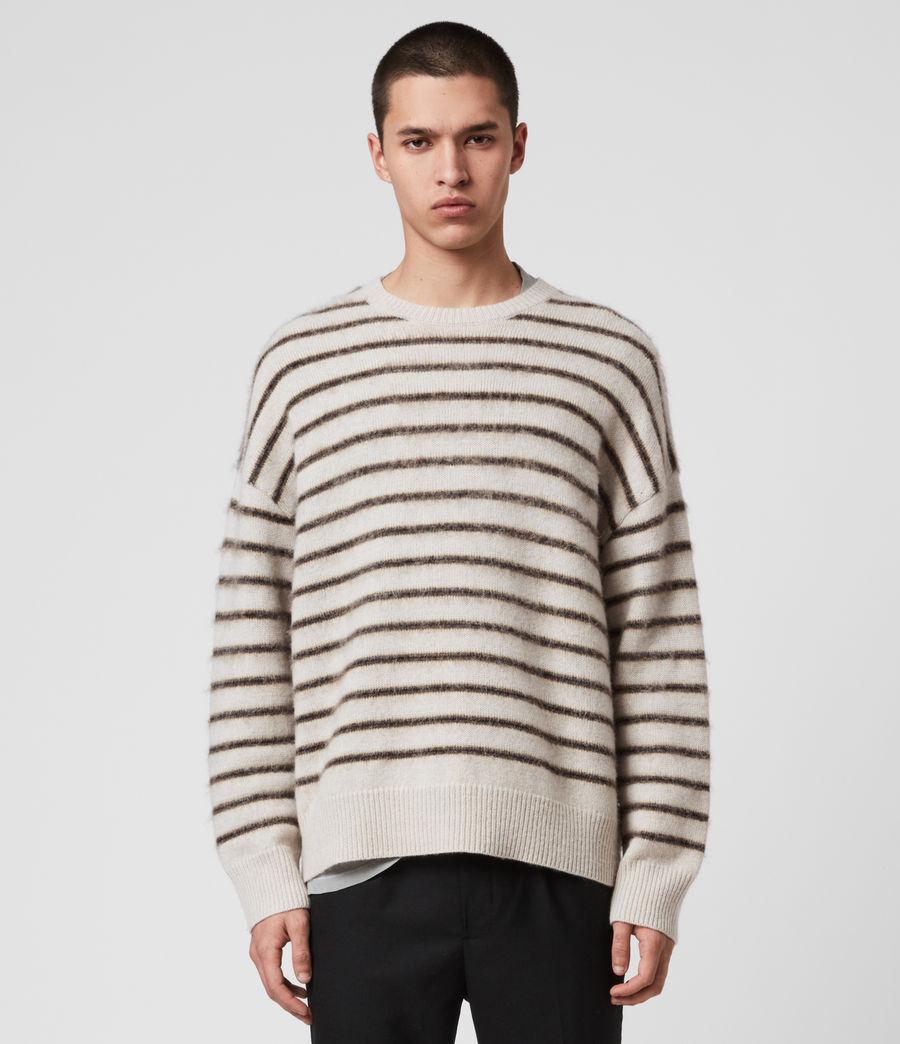 Uomo Maglione Finon - In lana e alpaca con motivo a righe (ecru_fawn_marl) - Image 1
