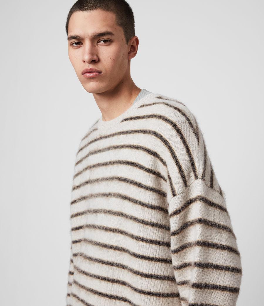 Uomo Maglione Finon - In lana e alpaca con motivo a righe (ecru_fawn_marl) - Image 2
