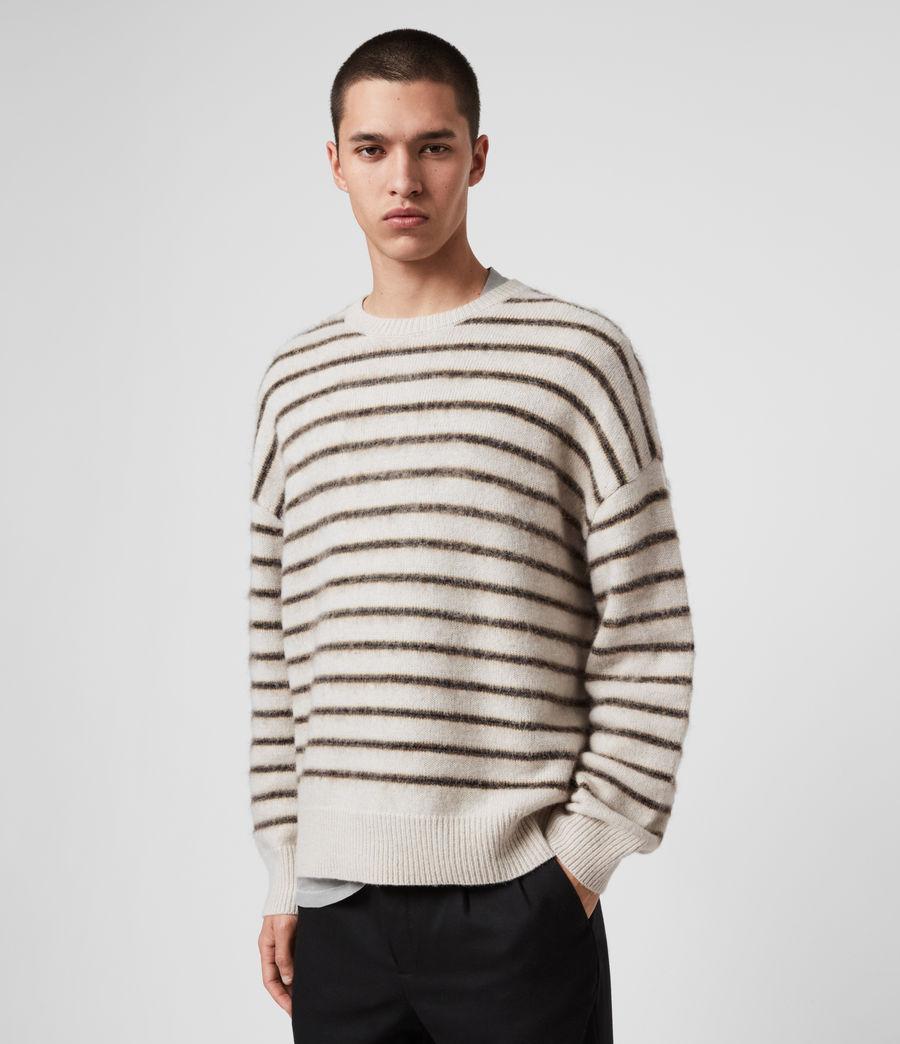Mens Finon Crew Sweater (ecru_fawn_marl) - Image 4