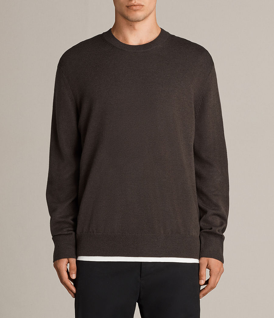 Men's Blake Crew Jumper (khaki_brown) - Image 1