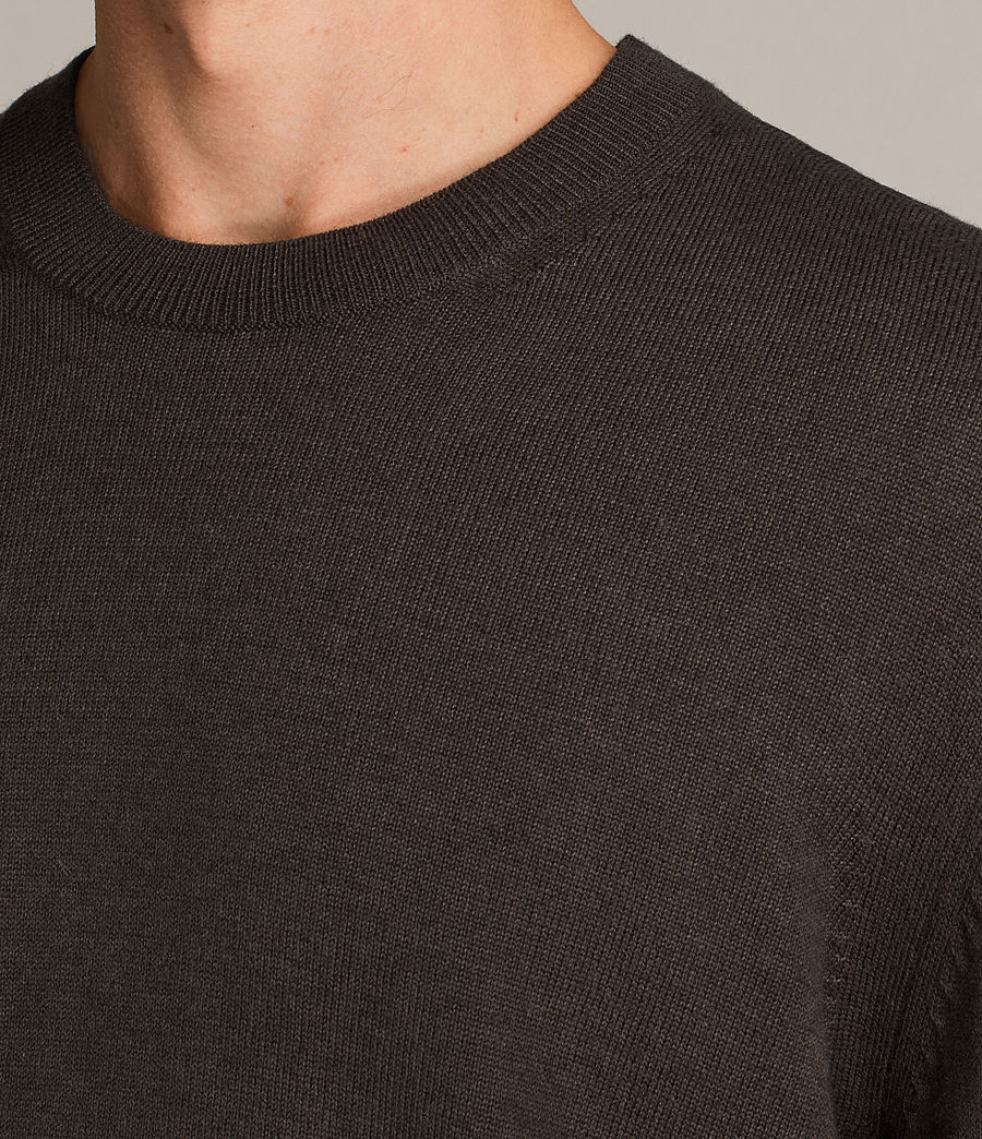Men's Blake Crew Jumper (khaki_brown) - Image 2