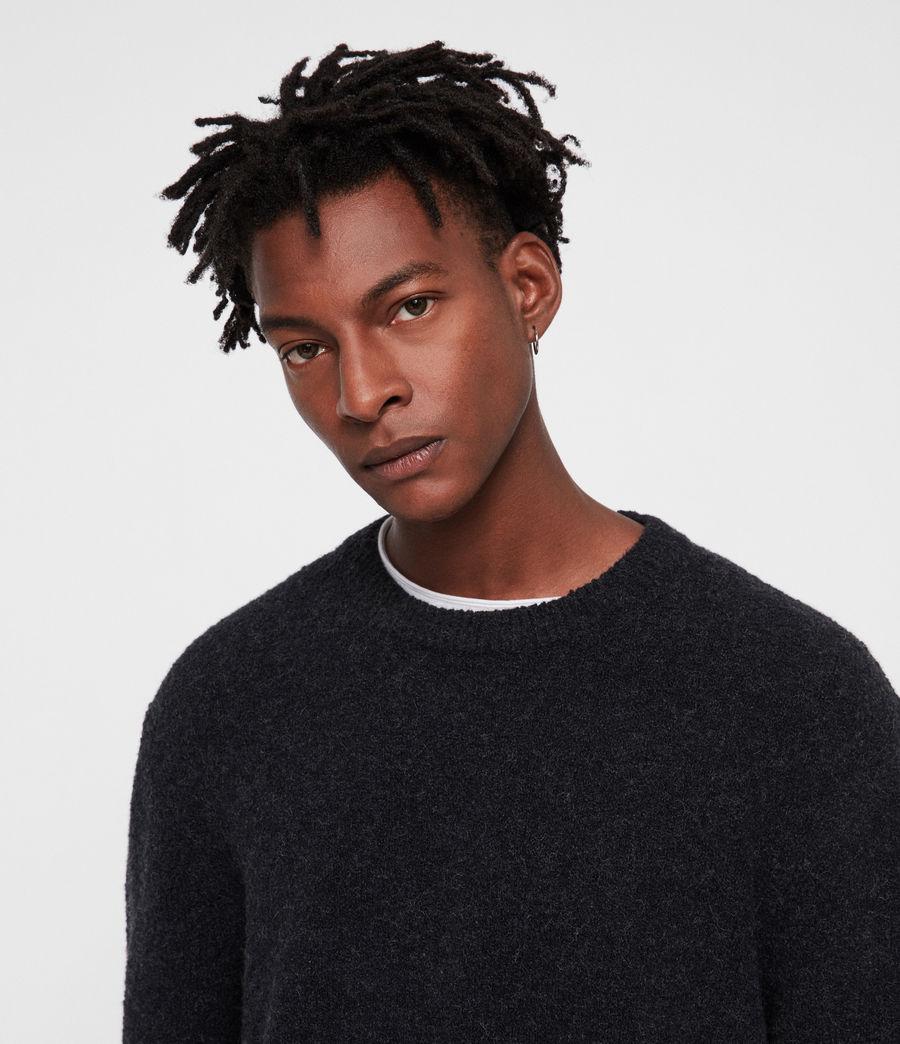Mens Hane Crew Sweater (cinder_black_marl) - Image 2