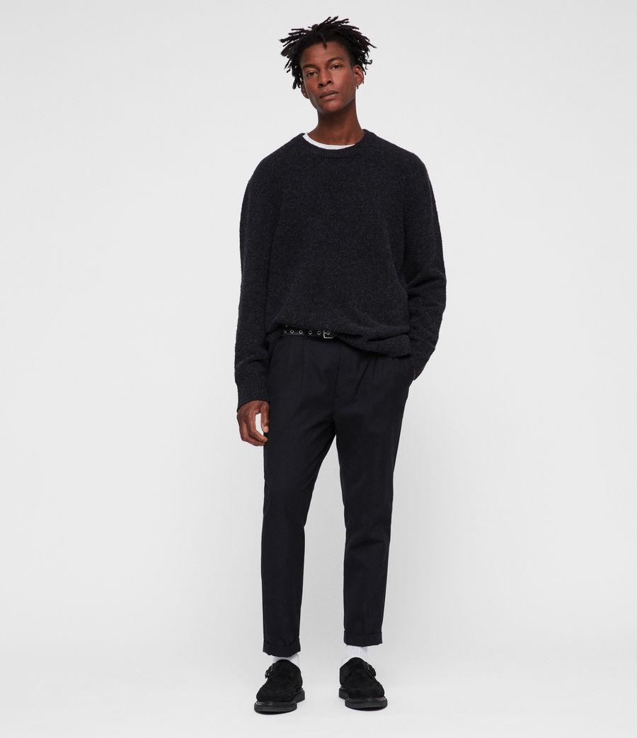 Mens Hane Crew Sweater (cinder_black_marl) - Image 3
