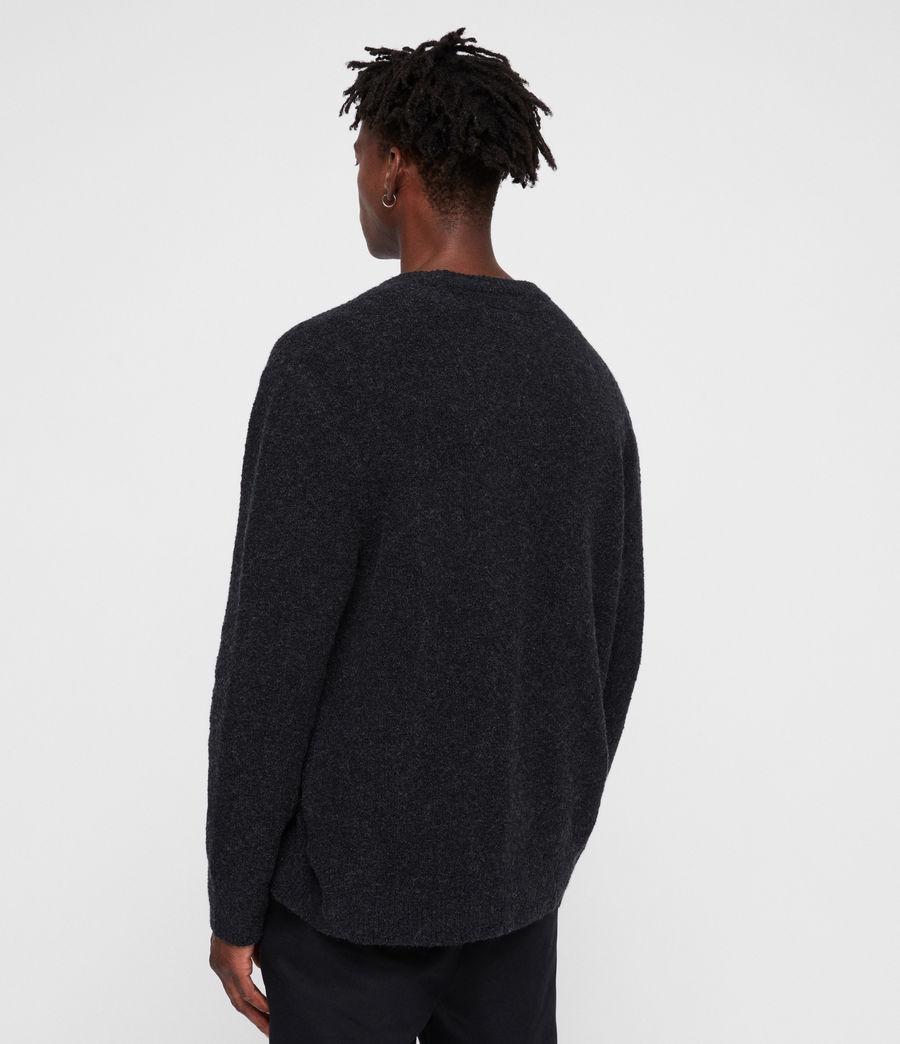 Mens Hane Crew Sweater (cinder_black_marl) - Image 4
