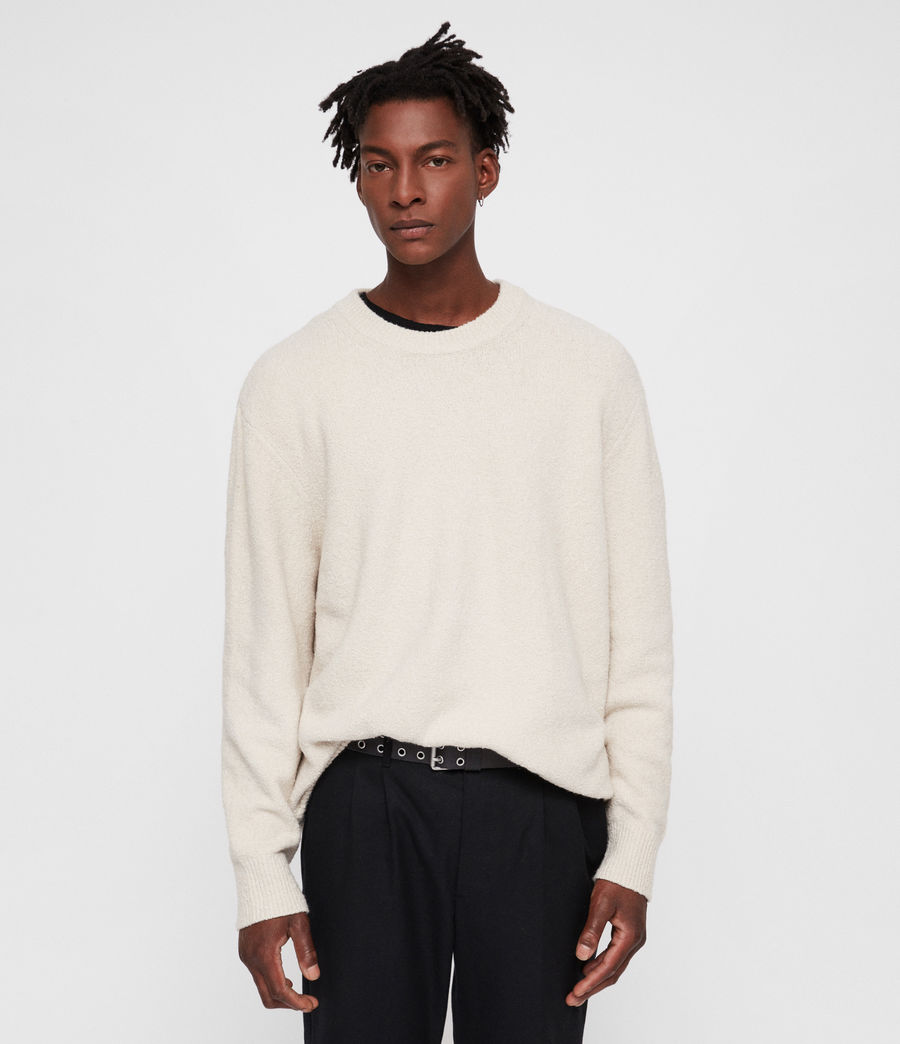 Men's Hane Crew Jumper (ecru_white) - Image 1