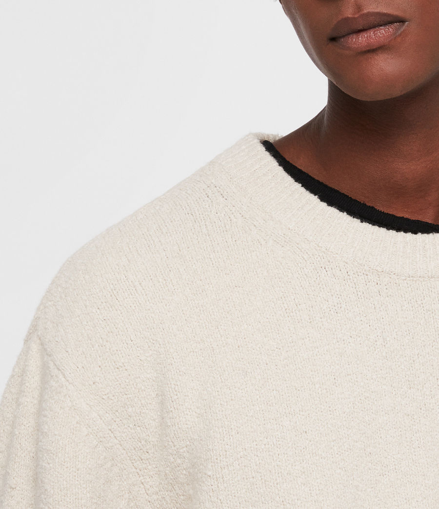 Men's Hane Crew Jumper (ecru_white) - Image 2