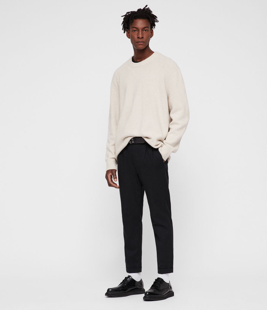 Men's Hane Crew Jumper (ecru_white) - Image 3
