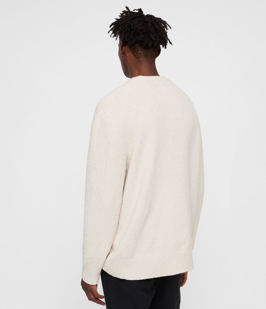 Men's Hane Crew Jumper (ecru_white) - Image 4