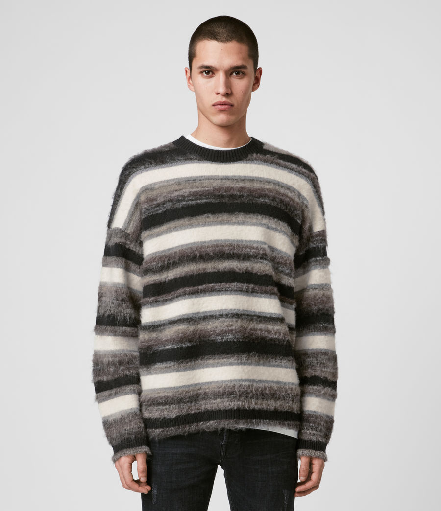 Mens Lerryn Crew Sweater (black_grey_marl) - Image 1