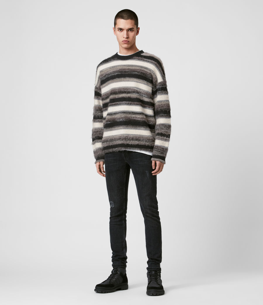 Mens Lerryn Crew Sweater (black_grey_marl) - Image 3