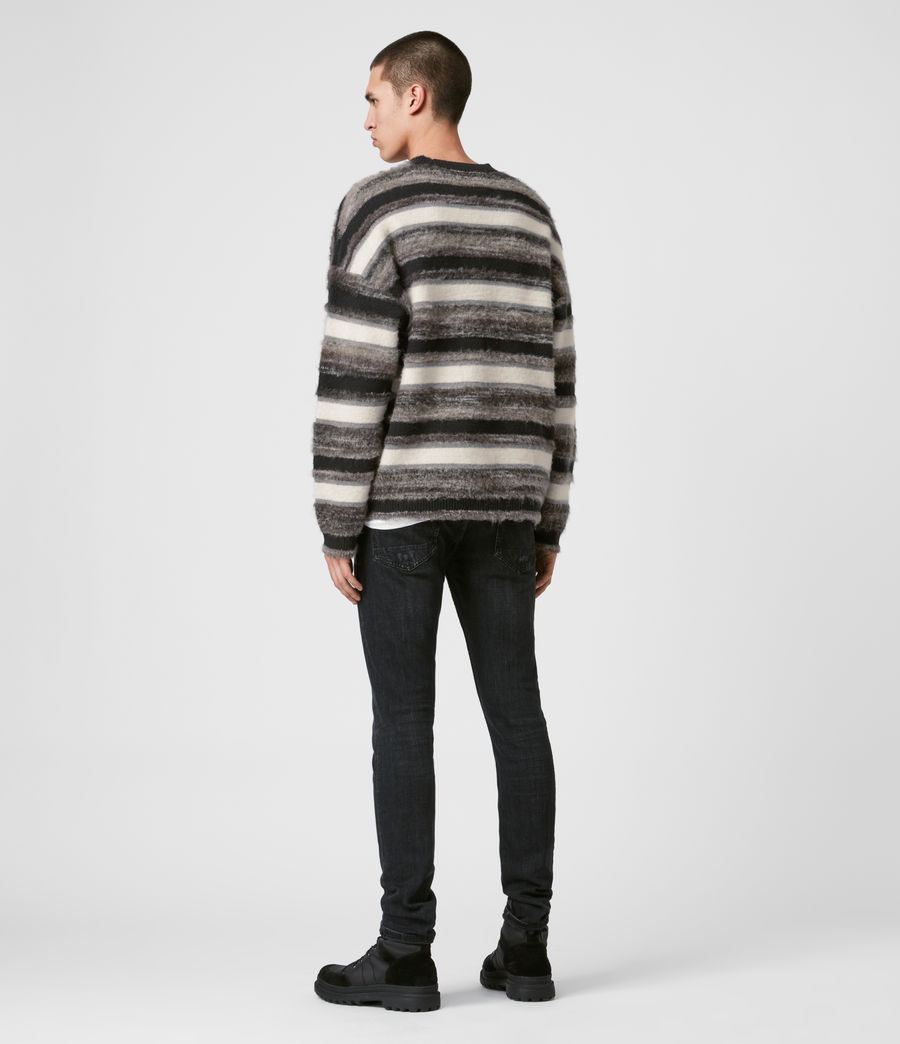 Mens Lerryn Crew Sweater (black_grey_marl) - Image 4