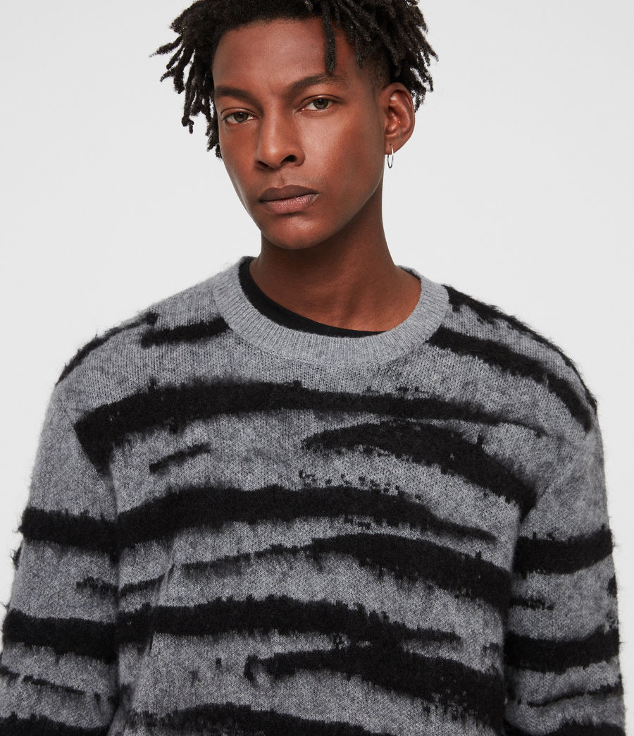 Men's Ture Crew Jumper (grey_marl_black) - Image 2