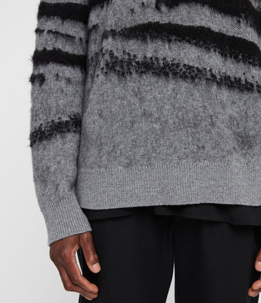 Men's Ture Crew Jumper (grey_marl_black) - Image 5