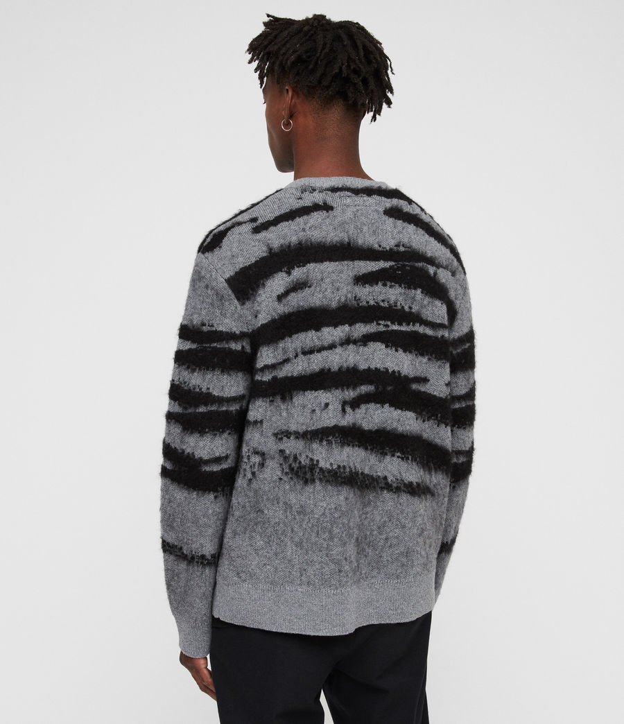 Men's Ture Crew Jumper (grey_marl_black) - Image 6
