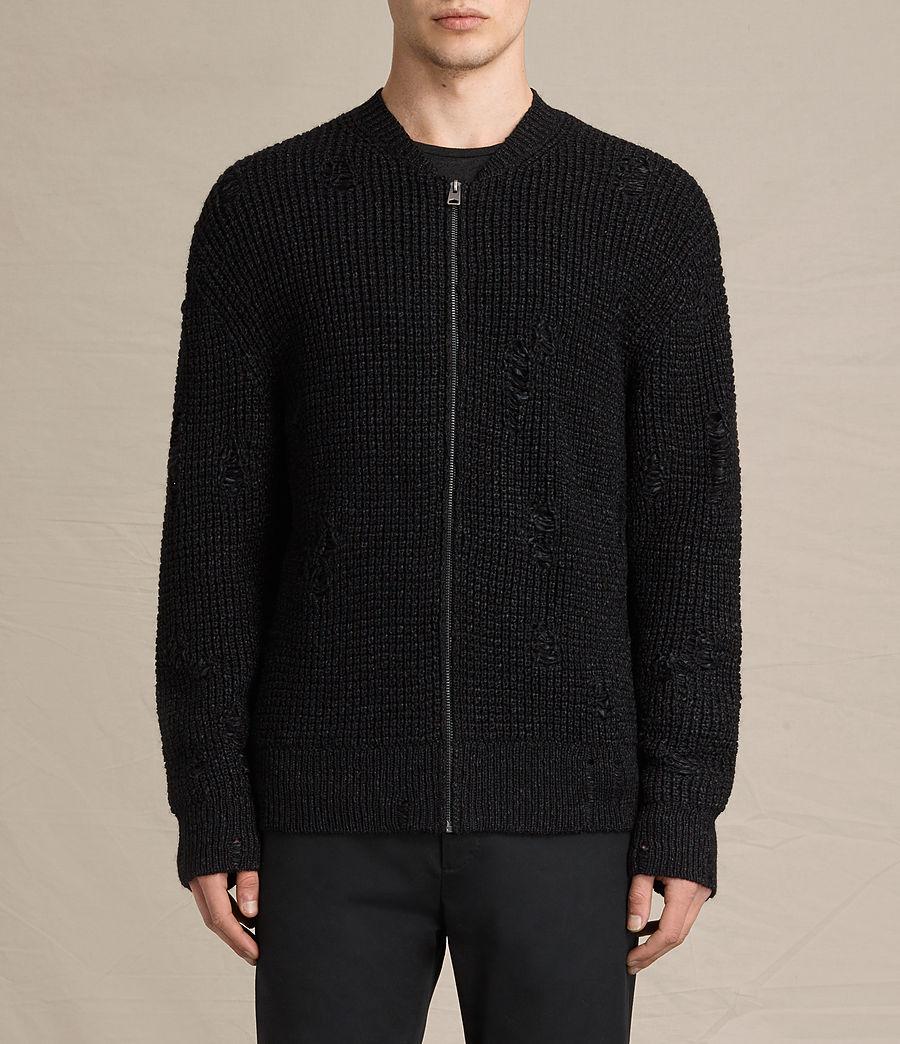 Herren Vektarr Pullover mit Reißverschluss (black) - Image 1