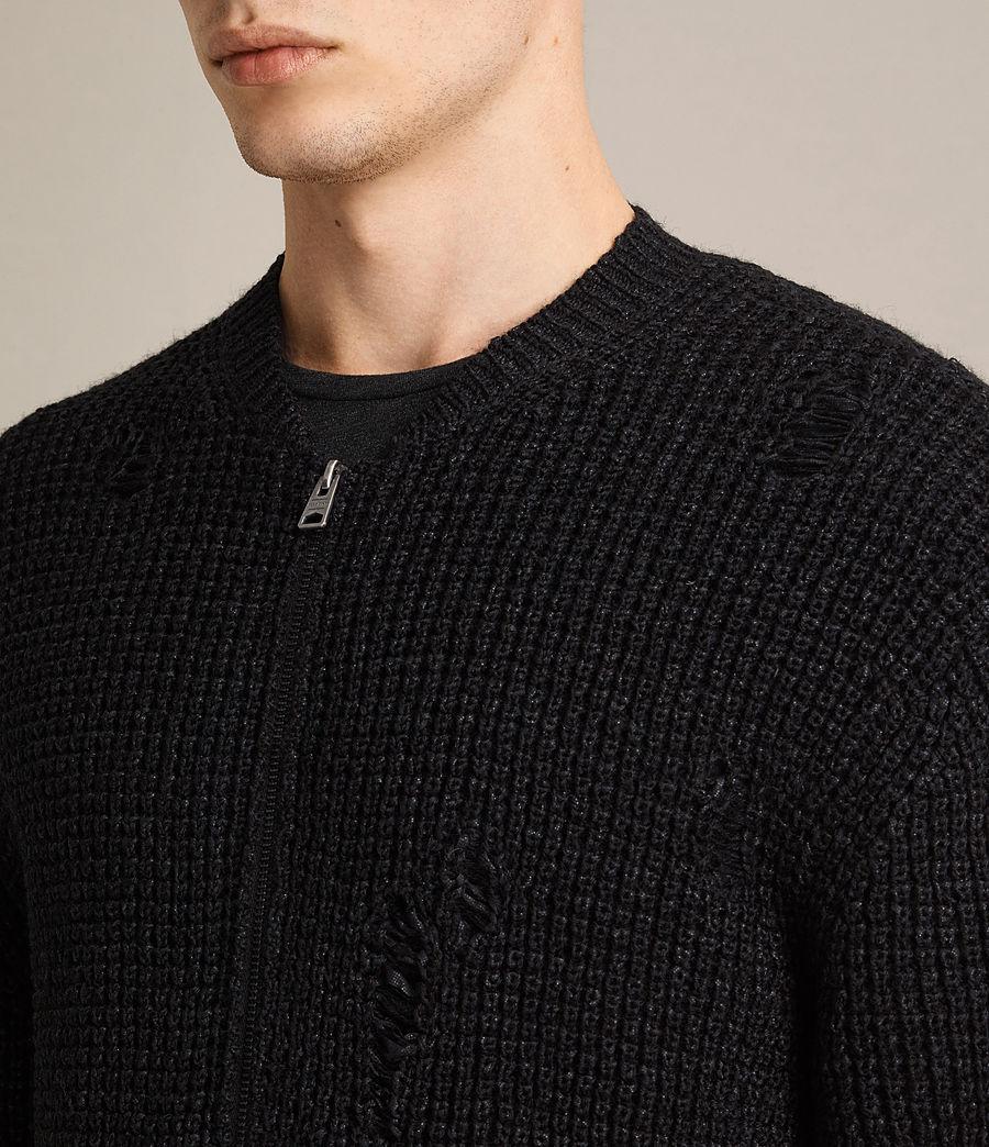 Herren Vektarr Pullover mit Reißverschluss (black) - Image 2