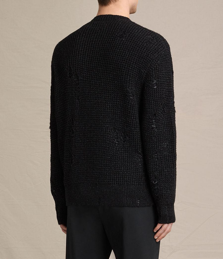 Herren Vektarr Pullover mit Reißverschluss (black) - Image 4