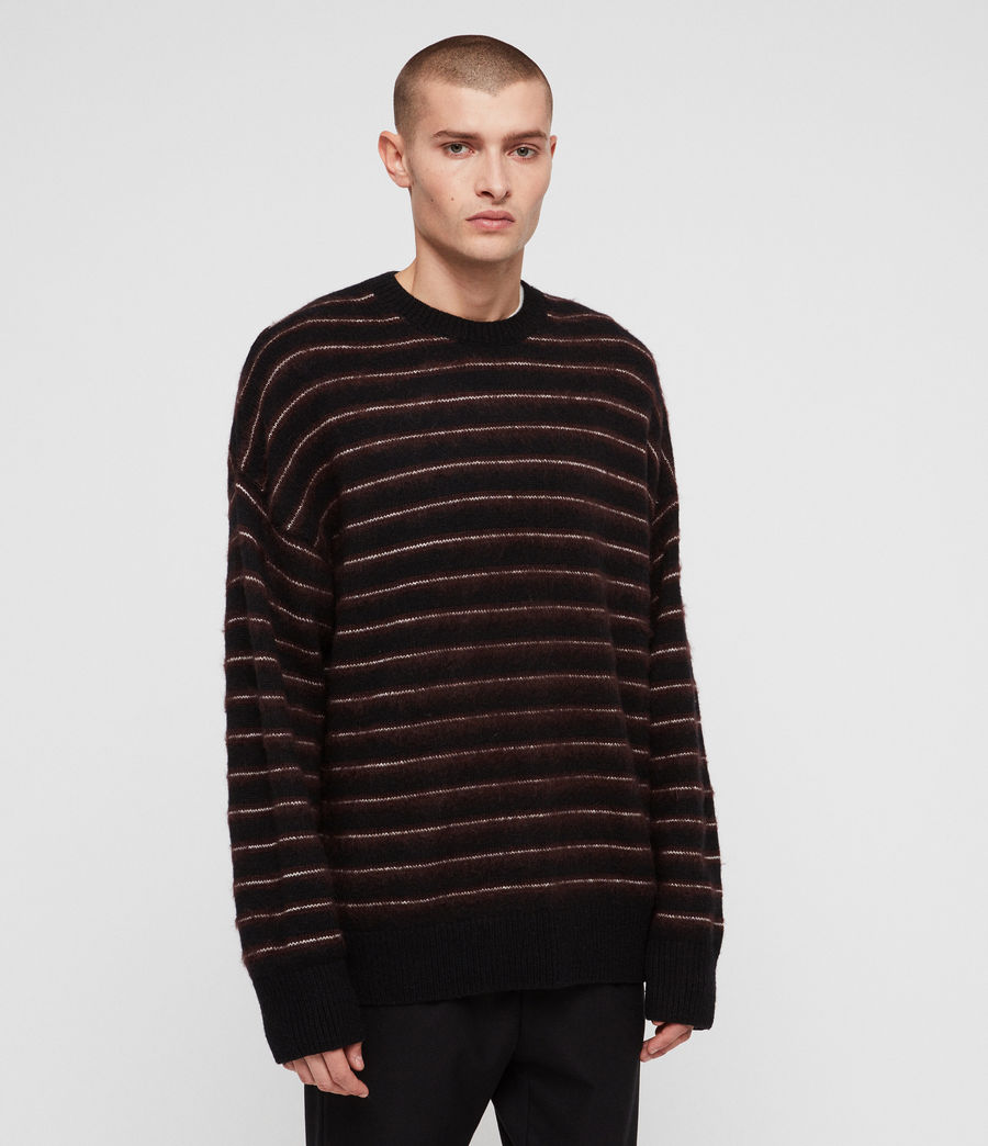 Men's Bretley Crew Jumper (black_red) - Image 1