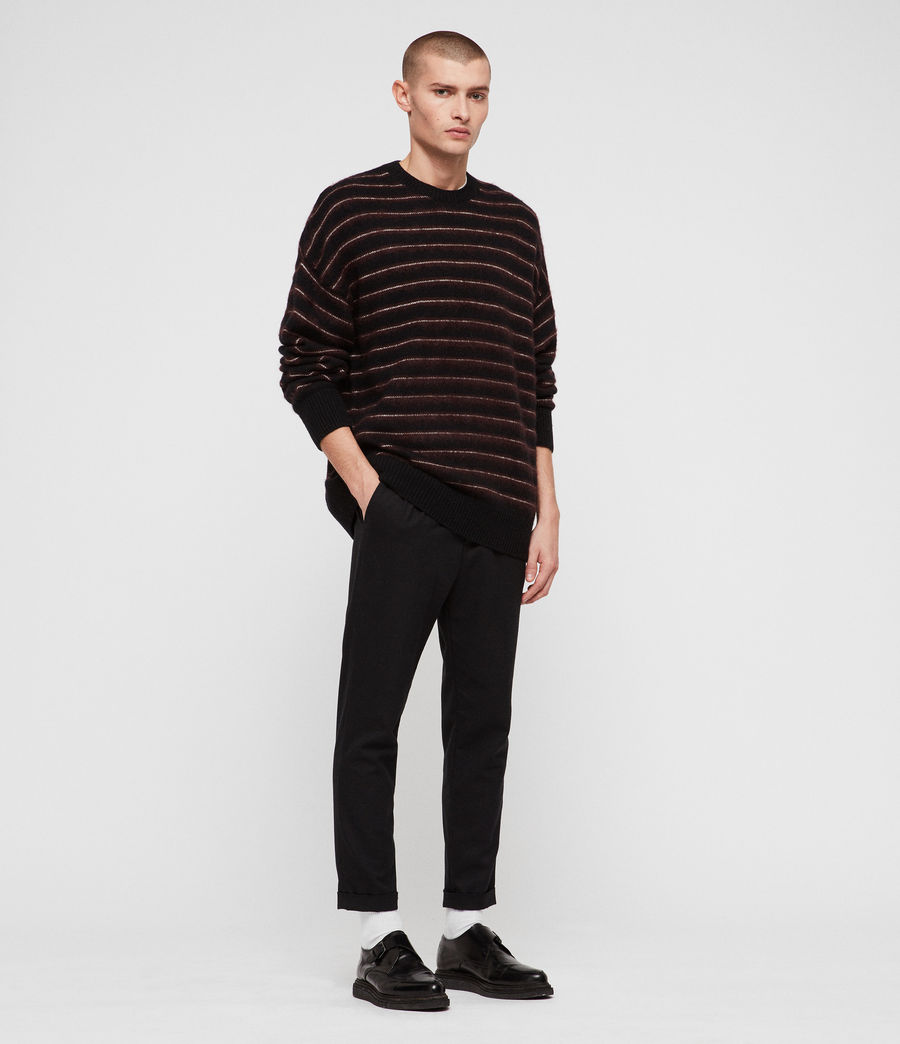 Mens Bretley Crew Sweater (black_red) - Image 3