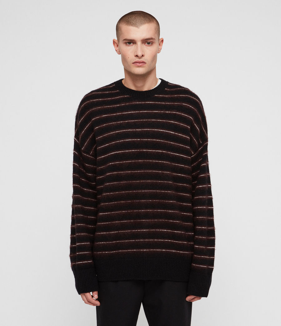 Men's Bretley Crew Jumper (black_red) - Image 4