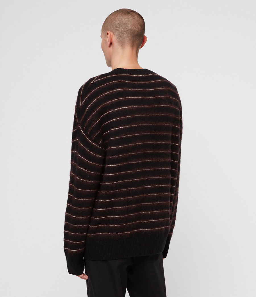 Men's Bretley Crew Jumper (black_red) - Image 5