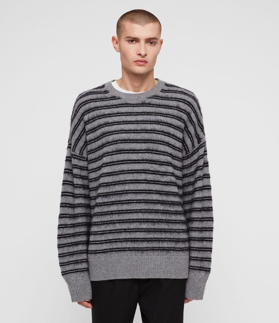 Mens Bretley Crew Sweater (grey_inknavy) - Image 1