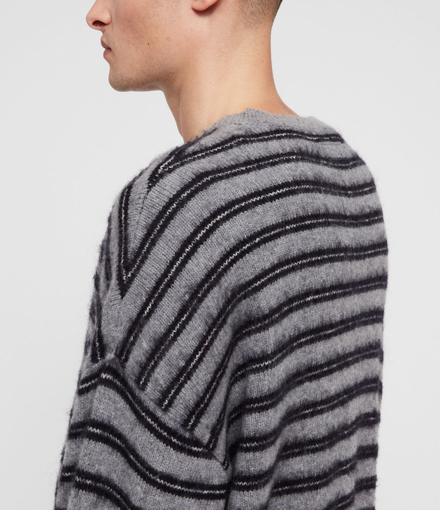 Mens Bretley Crew Sweater (grey_inknavy) - Image 2