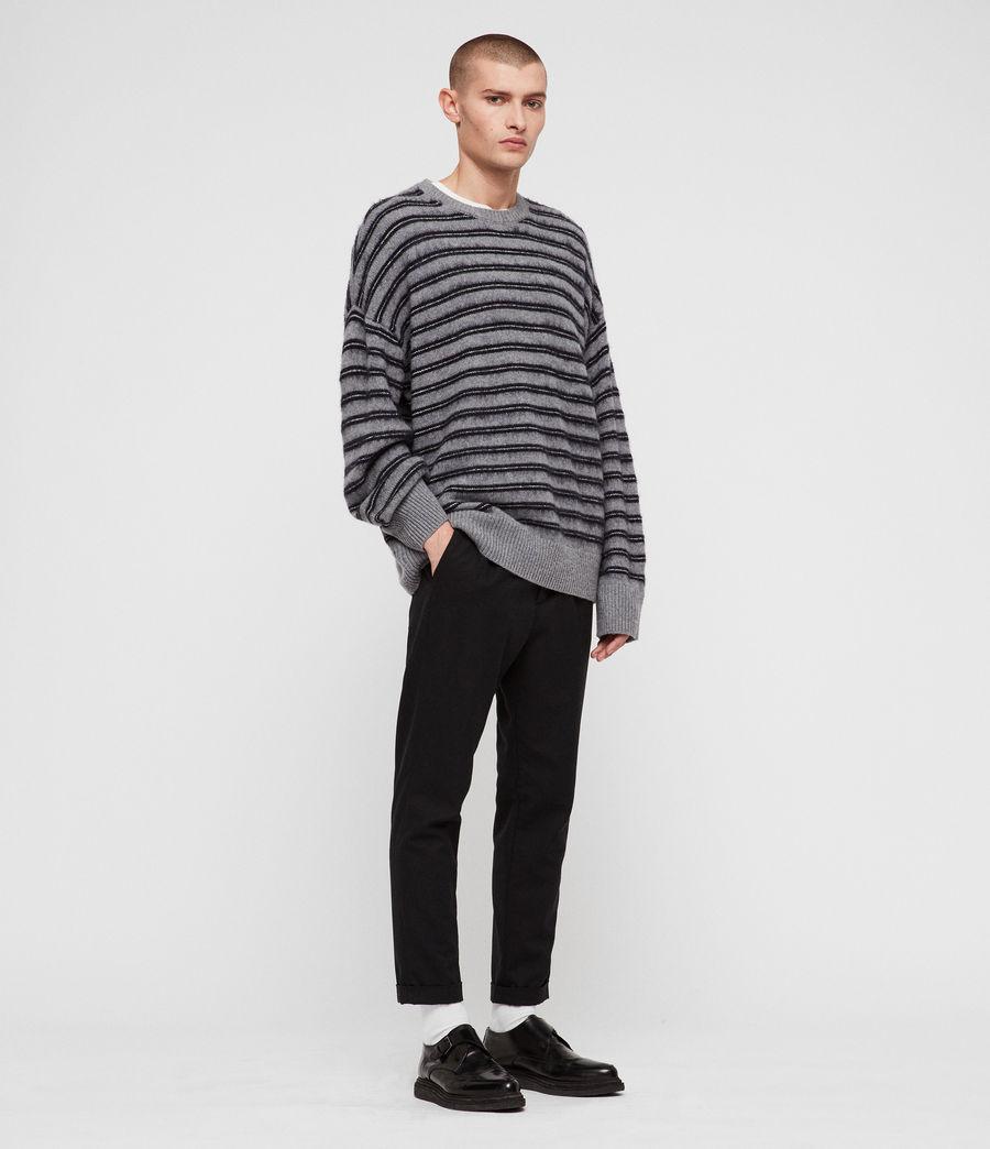 Mens Bretley Crew Sweater (grey_inknavy) - Image 3