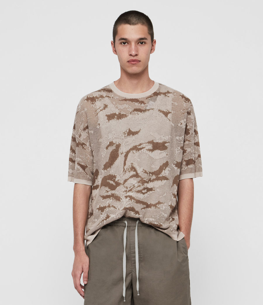 Hombre Conceal Crew T-Shirt (khaki_taupe) - Image 1