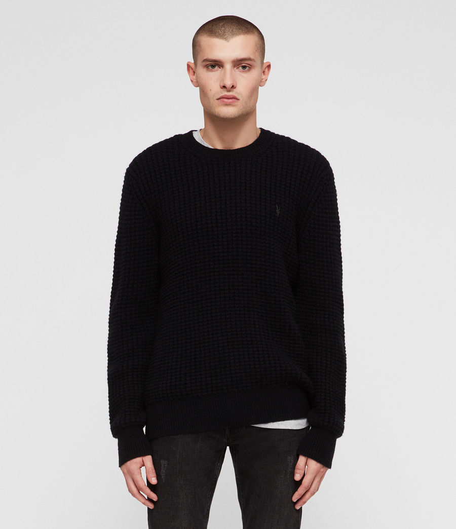 Mens Raynes Crew Sweater (ink_navy) - Image 1