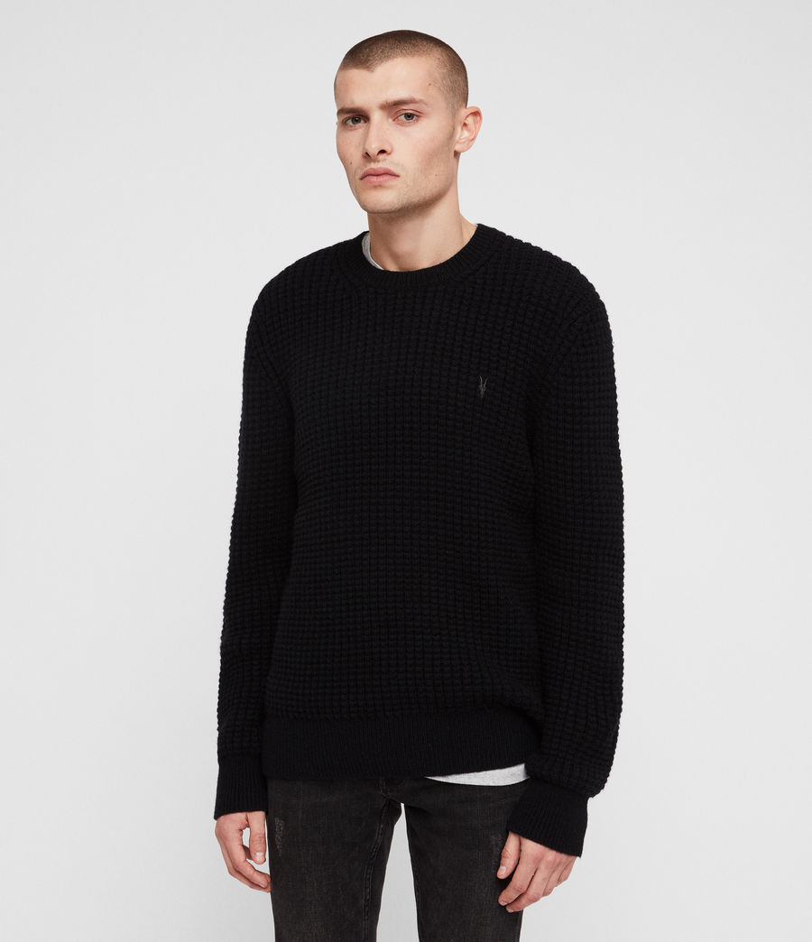 Mens Raynes Crew Sweater (ink_navy) - Image 4