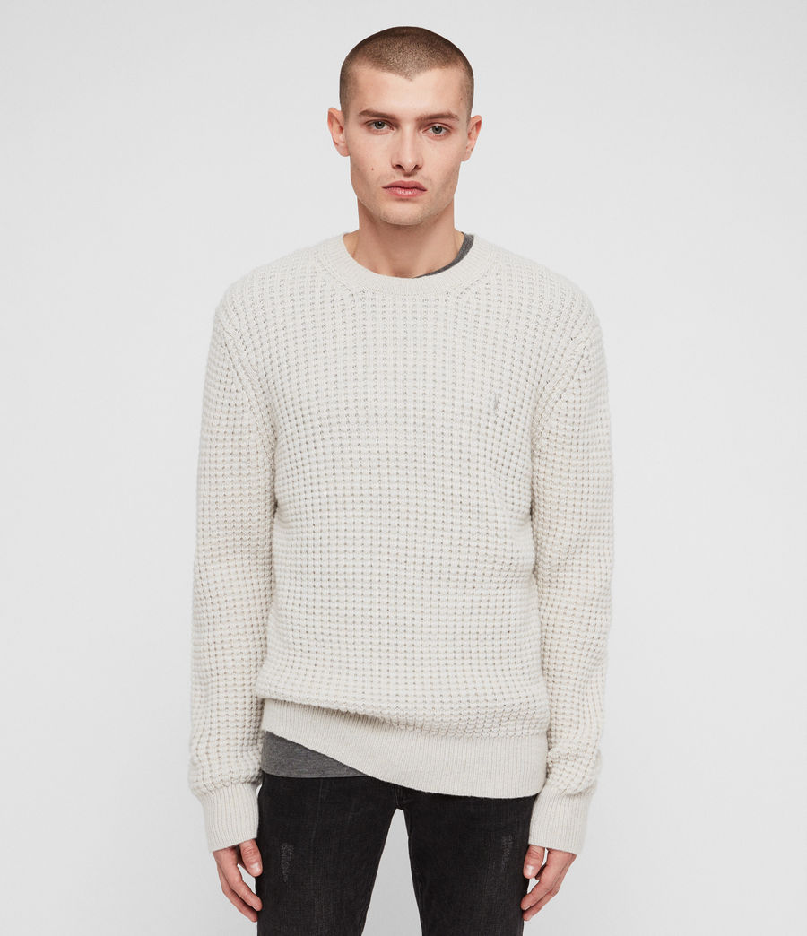 Mens Raynes Crew Sweater (sodium_grey) - Image 1