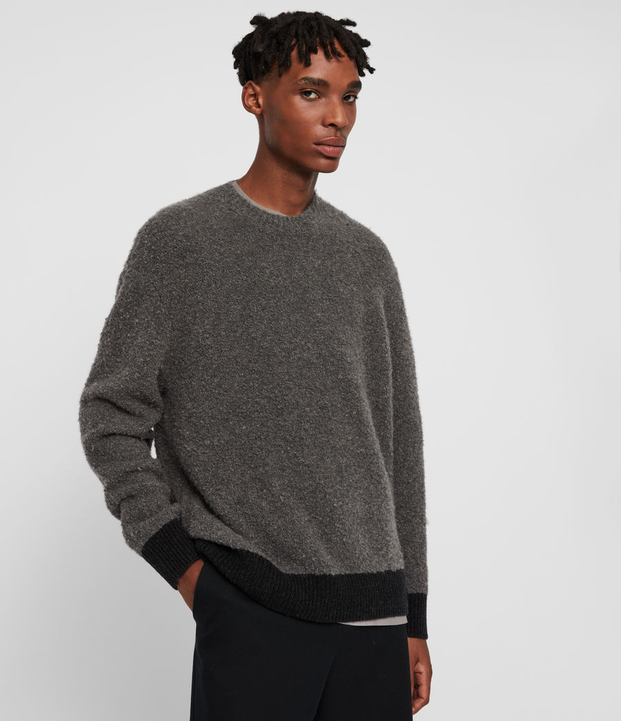 Mens Tremett Crew Sweater (charcoal_marl) - Image 1
