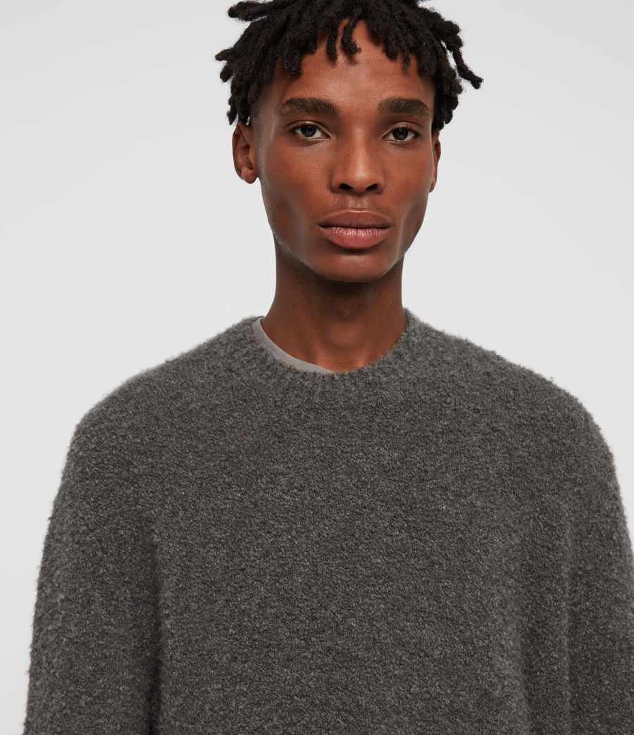 Mens Tremett Crew Sweater (charcoal_marl) - Image 2