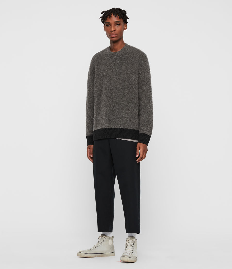 Mens Tremett Crew Sweater (charcoal_marl) - Image 3