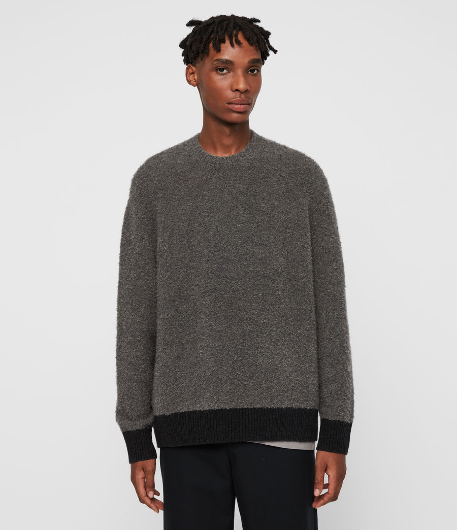 Mens Tremett Crew Sweater (charcoal_marl) - Image 4