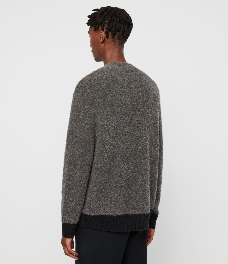 Mens Tremett Crew Sweater (charcoal_marl) - Image 5